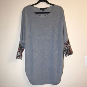 Hawthorne Grey knit pullover sweater